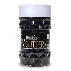 Darice . DAR GLITTER - BLACK 4OZ
