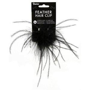Darice . DAR HAIR CLIP - OSTRICH FEATHER