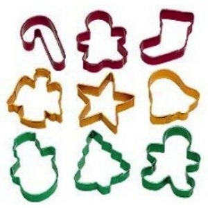 Wilton Products . WIL 9PC HOLIDAY COOKIE CUTTER