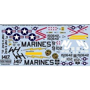 Warbird Decals . WBD 1/48 F4 PHANTOM II BLACK LIONS DECALS