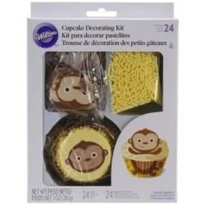 Wilton Products . WIL CUPCAKE DEC KIT - MONKEY
