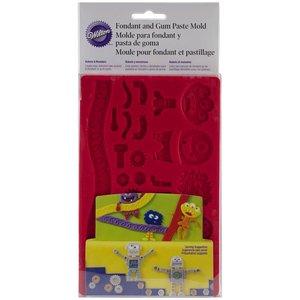 Wilton Products . WIL FONDANT MOLD - ROBOTS/MON