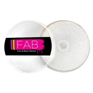 Fab . FAB AQUACOLOR WHITE SHIMMER 16GM FACE & BODY PAINT