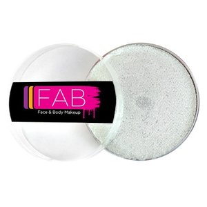 Fab . FAB AQUACOLOR GLITTER WHITE 16GM FACE & BODY PAINT