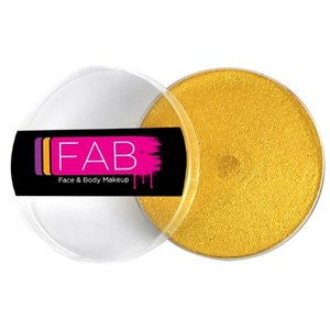 Fab . FAB AQUACOLOR GLITTER GOLD 16GM FACE & BODY PAINT