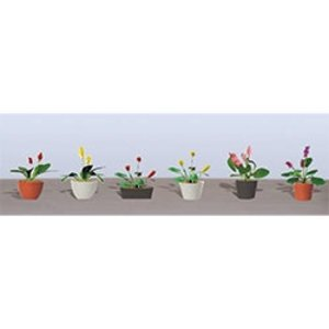 Model Rectifier Corp . MRC FLWR PLANTS POTTED ASST 3 HO-SCALE 6PK