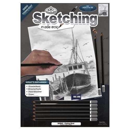 Royal art supplies roy fish boat sketch kit pm for Roy s fishing supply