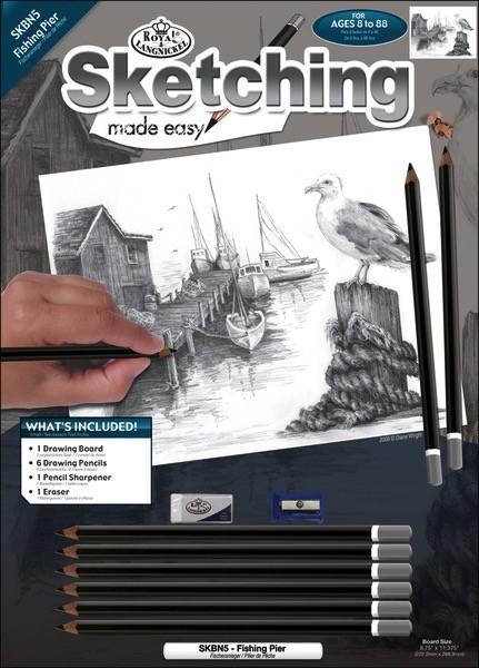 Royal art supplies roy fish pier sketch kit pm for Roy s fishing supply