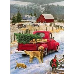 Cobble Hill . CBH CHRISTMAS ON THE FARM 1000PC PUZZLE
