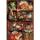 Cobble Hill . CBH Feline Bookcase 2000Pc Puzzle