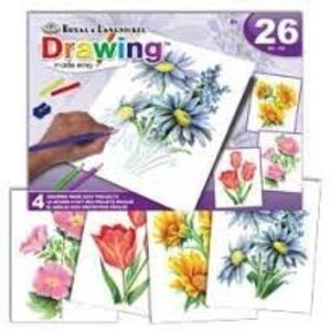 Royal (art supplies) . ROY DRAWING FLOWERS BOX SET