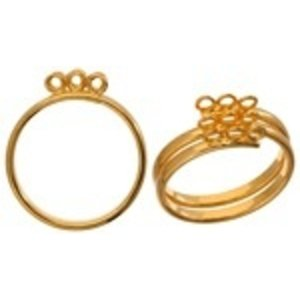 John Bead Corporation . JBC FINGER RING 9 RINGS/3 ROWS 21MM GOLD