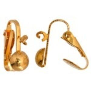 John Bead Corporation . JBC EARRING CLIPON BALL RING 6.5MM GOLD