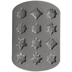 Wilton Products . WIL SN.FLAKE/STARS COOKIE PAN