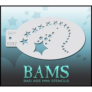 BAD ASS STENCILS . BAS MINI STENCIL 1037