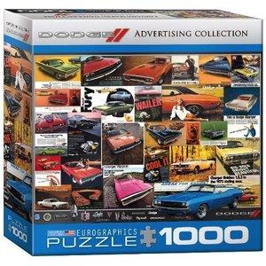 Eurographics Puzzles . EGP DODGE CAR ADDS PUZZ 1000