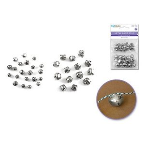 multicraft mci silver jingle bells 8mm 15mm metal pm hobbycraft