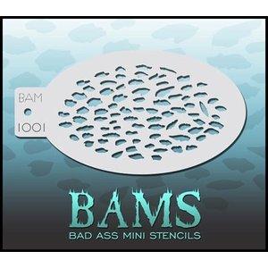 BAD ASS STENCILS . BAS MINI STENCIL 1001