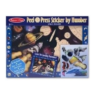 Melissa & Doug . M&D SPACE MISSION STCKR BY #