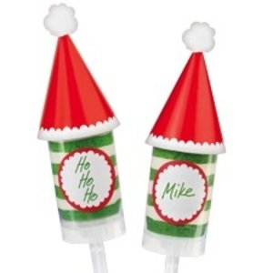 Wilton Products . WIL DECO LABEL & TOPPERS SANTA HAT