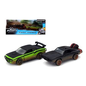 Jada Toys . JAD 1/32 F&F TWIN PACK 70 CHARGER & 08 CHALLENGER
