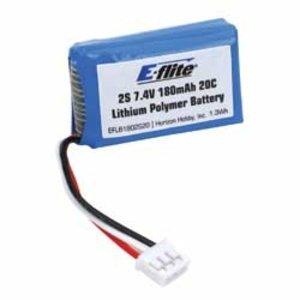 E Flite . EFL 180MAH 2S 7.4V 20C LI-PO 26AWG