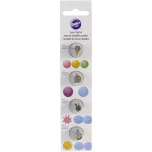 Wilton Products . WIL LG TIP SET - ROUND/STARWIL