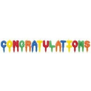 Wilton Products . WIL CANDLES CONGRATULATIONS PICKS
