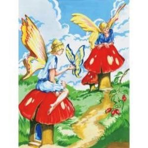 Royal (art supplies) . ROY FLOWER FAIRIES PAINT BY #