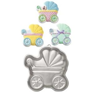 Wilton Products . WIL PAN SHAPED BABY BUGGY