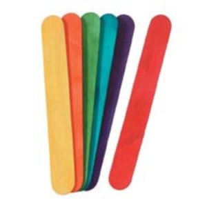 Darice . DAR COLORED JUMBO CRAFT STICKS