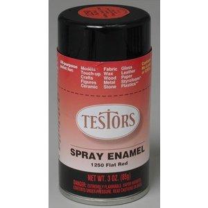 Testors Corp. . TES SPRAY 3OZ FLAT RED