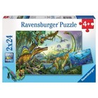 Ravensburger (fx shmidt) . RVB Prehistoric Giants 2X24Pc Puzzles