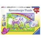 Ravensburger (fx shmidt) . RVB Rainbow Horses 2 X 24Pc Puzzles