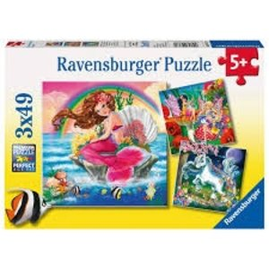 Ravensburger (fx shmidt) . RVB FANTASY FRIENDS 3X49PC