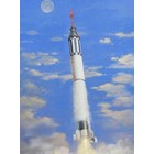 Horizon Models . HZM 1/72 Mercury Spacecraft w/Redstone Booster