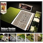 Uschi Model Accessories . USH Multi-Scale Old Concrete Deluxe Decals w/Light & Dark Grasses