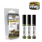 Ammo of MIG . MGA GREEN TONES OILBRUSHER SET