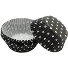 Wilton Products . WIL STANDARD BAKING CUPS BLACK DOTS 75/PKG