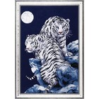 DESIGN WORKS . DEW MOONLIT TIGERS COUNTED CROSS STITCH KIT