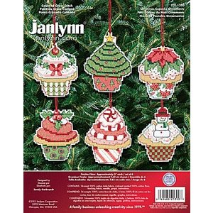 Janlynn Corporation . JAN CHRISTMAS CUPCAKE CROSS STITCH