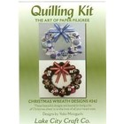 LAKE CITY . LAK CHRISTMAS WREATH QUILL KIT