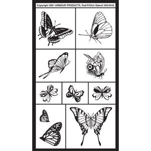 Armour Products (etch) . API RUB N ETCH - BUTTERFLIES