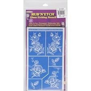 Armour Products (etch) . API RUB N ETCH - DETAILED FLORAL
