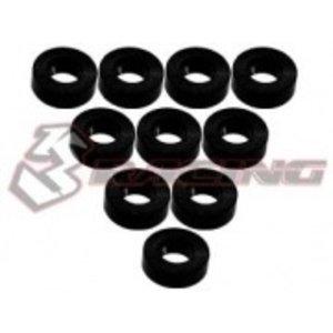 3 Racing . 3RC Alum M3 Flat Washer 2.0mm Black
