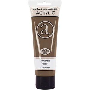 Art Advantage . ART RAW UMBER 4OZ ACRYLIC TUBE