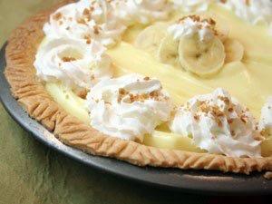 Bavarian Chocolate Banana Cream Pie