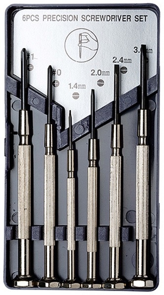 excel hobby blade corp exl 6pc precision screwdriver set pm hobbycraft. Black Bedroom Furniture Sets. Home Design Ideas