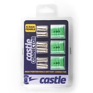 Castle Creations . CSE POLARIZED BULLET CONN FEM 6.5MM