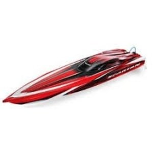"Traxxas Corp . TRA SPARTAN BRSHLES 36"" RACE BOAT W/TQI"